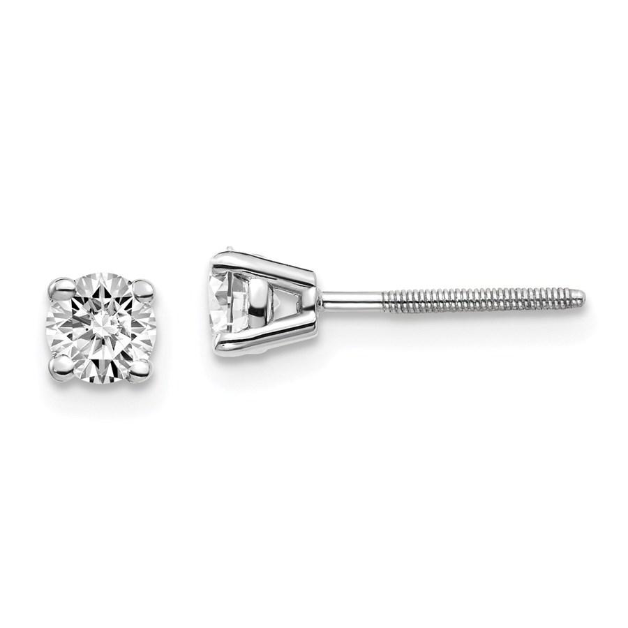 14k White Gold 1/2ct Lab Grown Diamond Earring