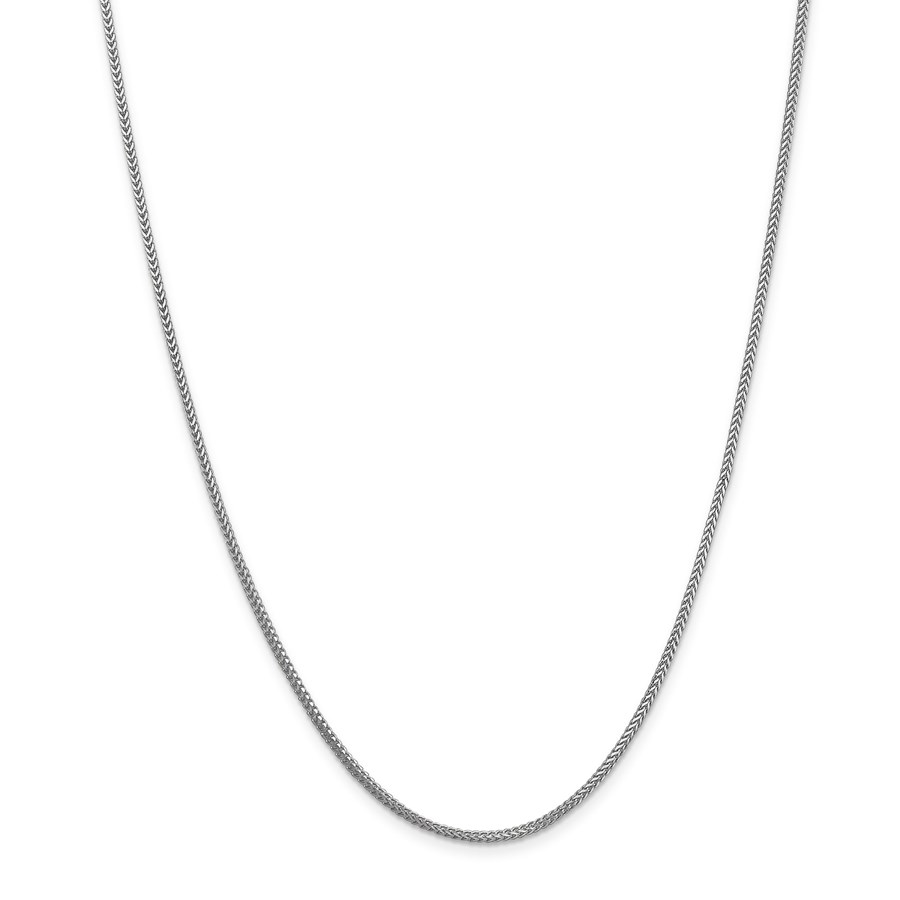 14k White Gold 1.3 mm Franco Chain Necklace - 18 in.