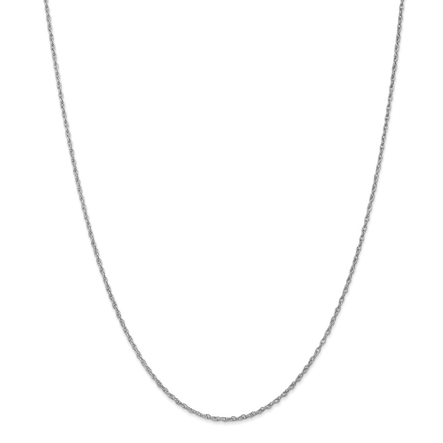 14k White Gold 1.3 mm Heavy-Baby Rope Chain Necklace - 20 in.