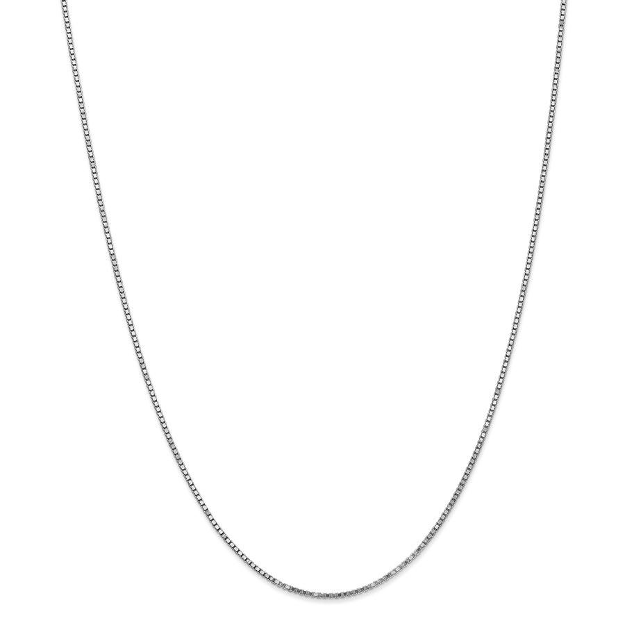 14k White Gold 1.30 mm Box Chain Necklace - 18 in.