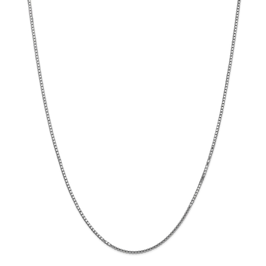 14k White Gold 1.35 mm Box Chain Necklace - 18 in.
