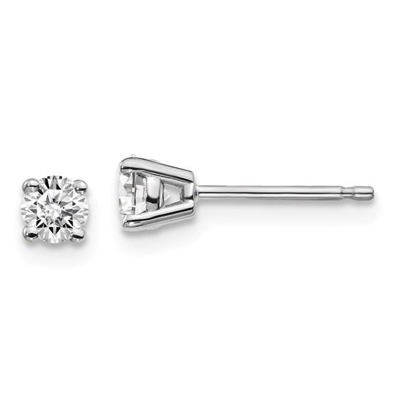 14k White Gold 1/3ct Lab Grown Diamond 4-Prong Earring