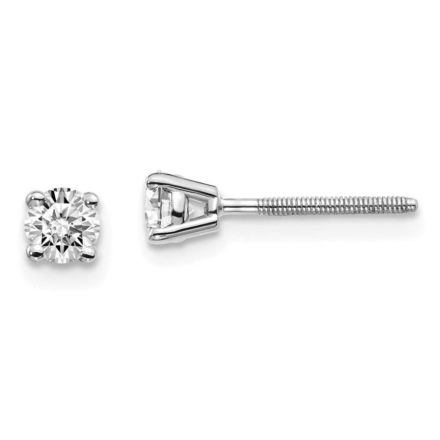 14k White Gold 1/3ct Lab Grown Diamond Earring