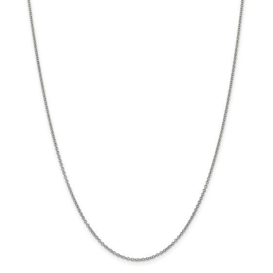 14k White Gold 1.4 mm Cable Chain - 30 in.