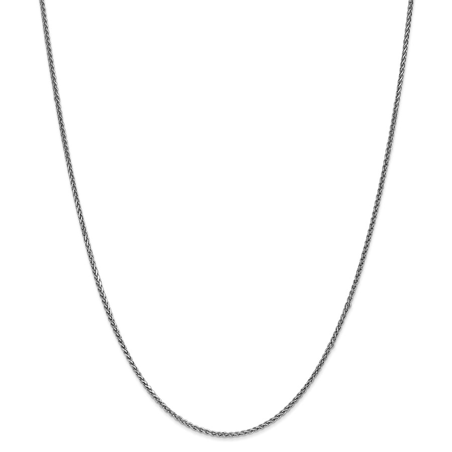 14k White Gold 1.4 mm Solid Spiga Chain Necklace - 18 in.