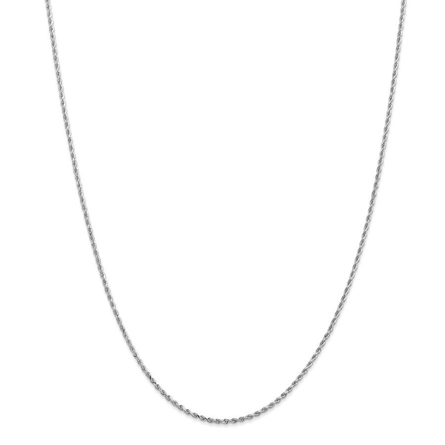 14k White Gold 1.5 mm Diamond Cut Rope Chain - 18 in.