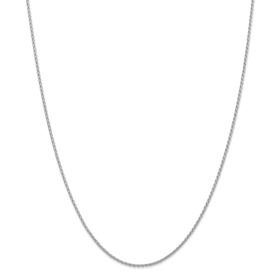 14k White Gold 1.5 mm ParisianWheat Chain Necklace - 18 in.