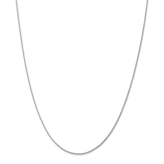 14k White Gold 1.5 mm Round Wheat Chain Necklace - 18 in.