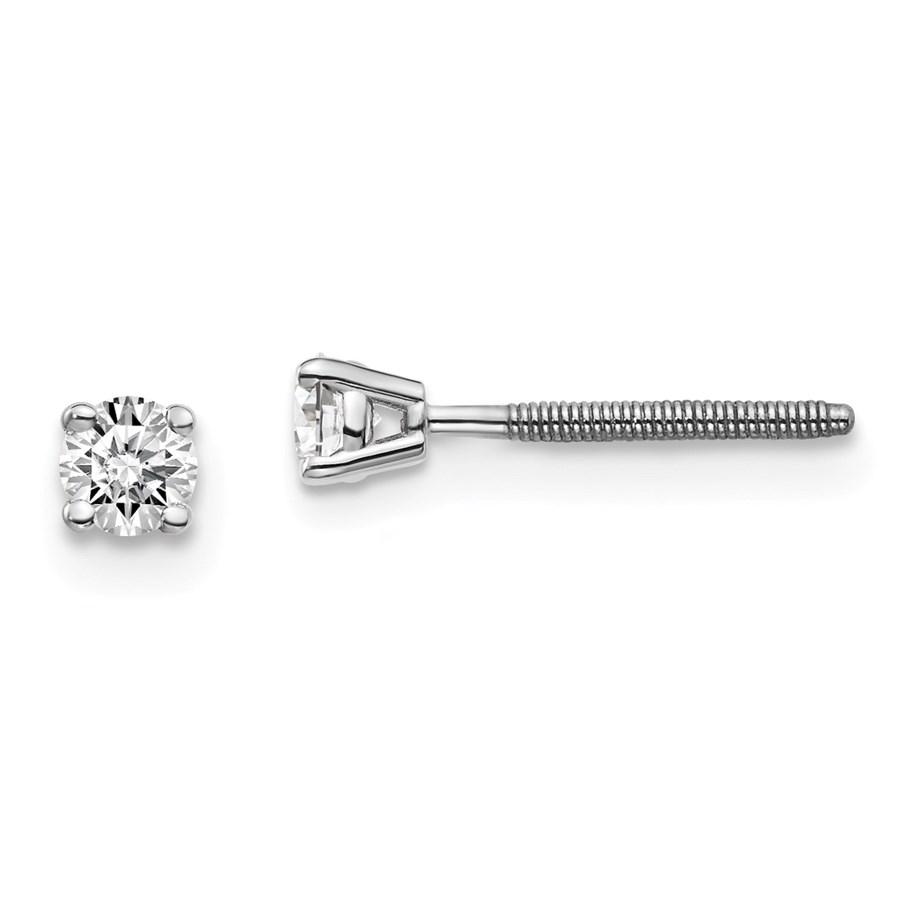 14k White Gold 1/5ct Cert. Lab Grown Diamond Earring