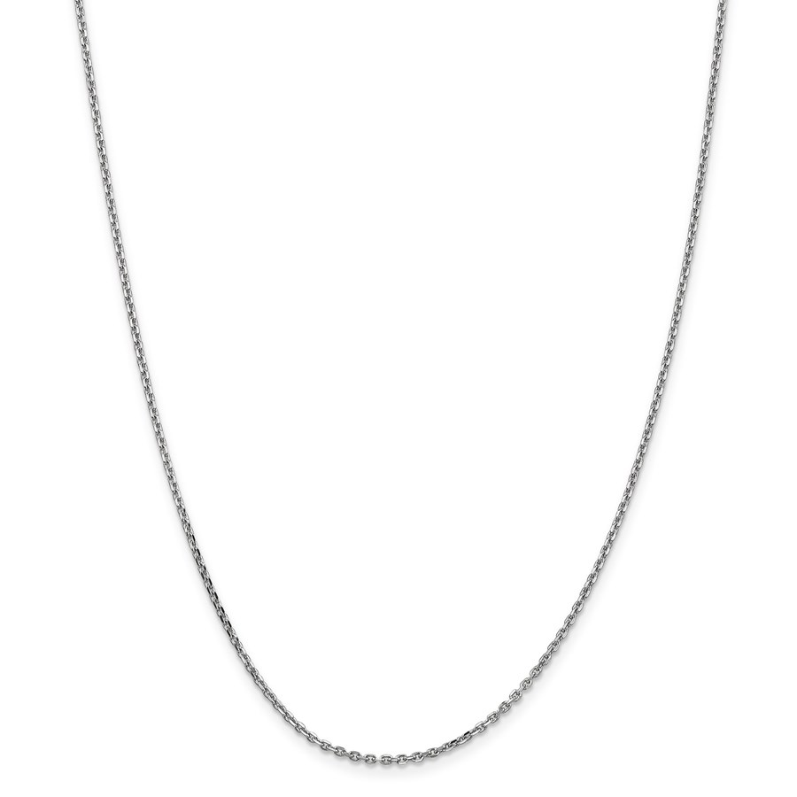 14k White Gold 1.65 mm Solid Cable Chain Necklace - 18 in.