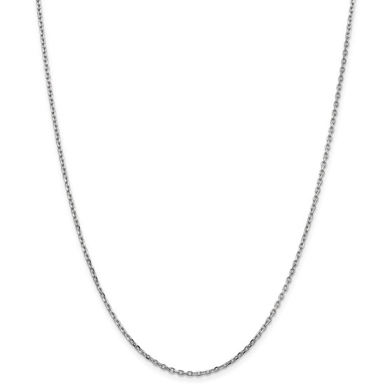 14k White Gold 1.8 mm Diamond-cut Cable Chain Necklace - 16 in.