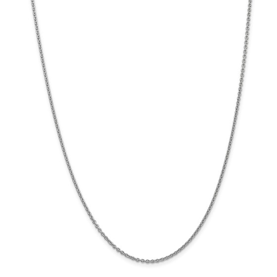 14k White Gold 1.80 mm Cable Chain Necklace - 18 in.