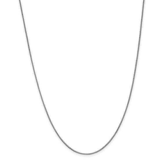 14k White Gold 1 mm Box Chain Necklace - 24 in.