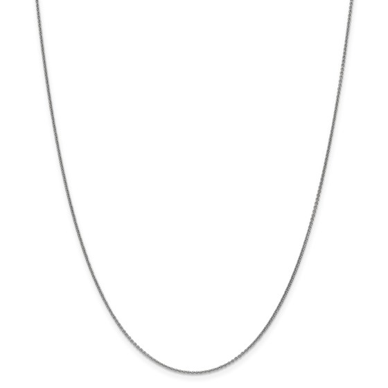 14k White Gold 1 mm Cable Chain Necklace - 24 in.