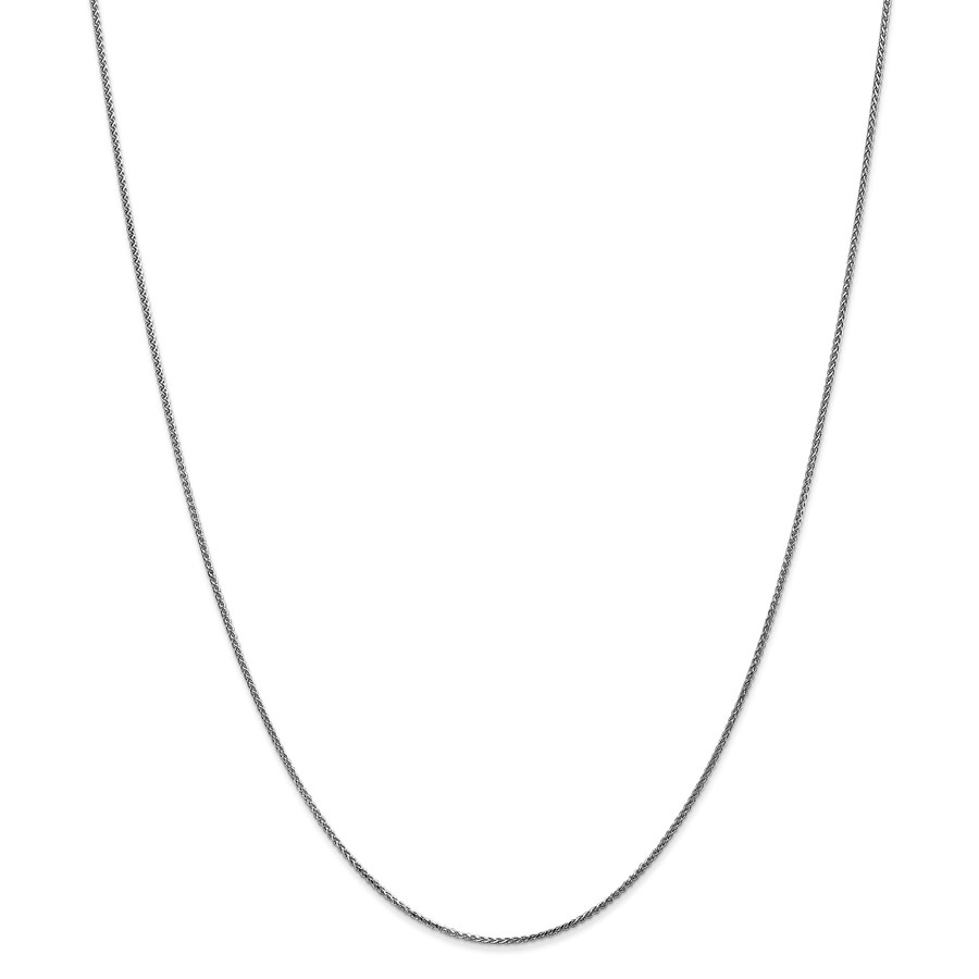 14k White Gold 1 mm Solid Spiga Chain Necklace - 18 in.