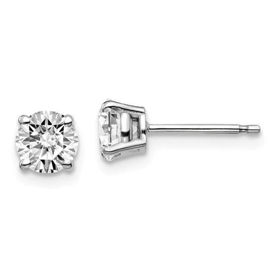 14k White Gold 1ct Cert Lab Grown Diamond 4-Prong Earring