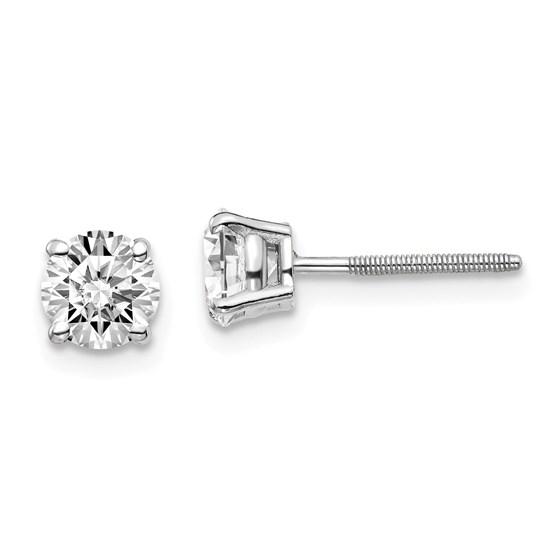 14k White Gold 1ct Cert Lab Grown Diamond Earring