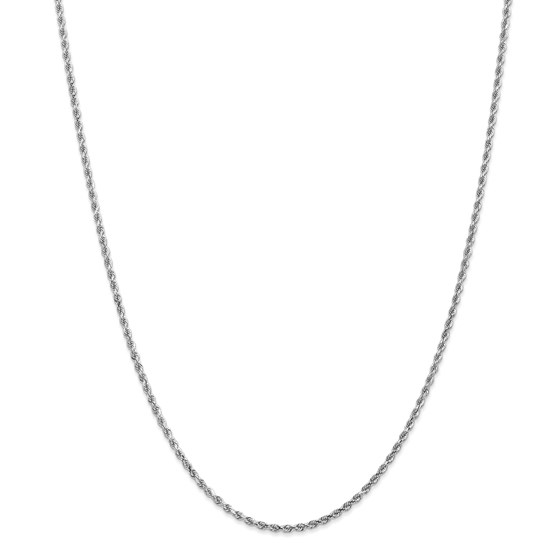 14k White Gold 2 mm Diamond-cut Rope Chain Necklace - 18 in.