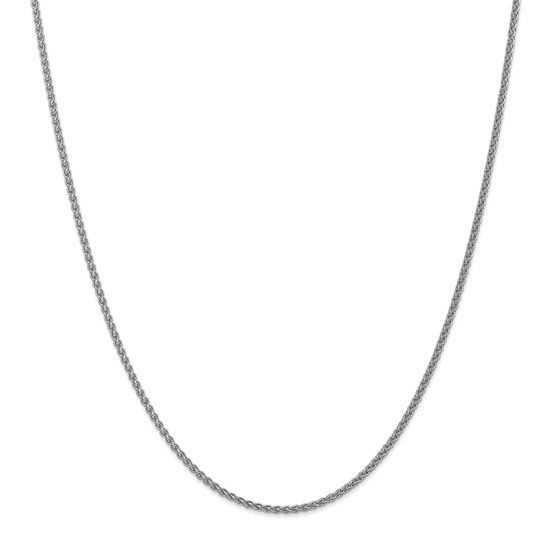 14k White Gold 21 mm Spiga Pendant Chain Necklace - 20 in.