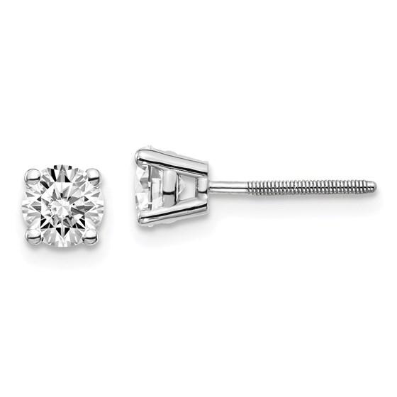 14k White Gold 3/4ct Cert. Lab Grown Diamond Earring