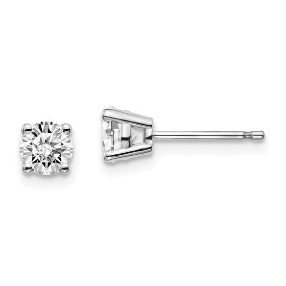 14k White Gold .60-.65ct Lab Grown Diamond 4-Prong Earring