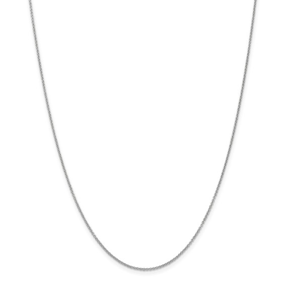 14k White Gold .7 mm Cable Chain Necklace - 18 in.