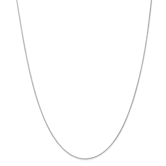 14k White Gold .8 mm Baby Parisian Wheat Chain Necklace - 18 in.