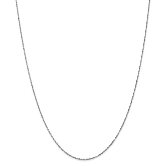 14k White Gold .8 mm Light Baby Rope Chain Necklace - 20 in.