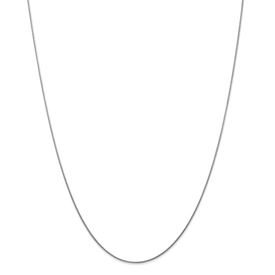 14k White Gold .80 mm Round Snake Chain Necklace - 18 in.