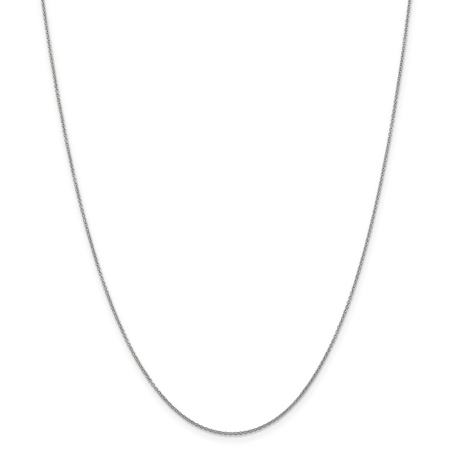 14k White Gold .9 mm Cable Chain Necklace - 20 in.