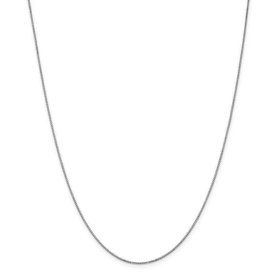 14k White Gold .90 mm Box Chain Necklace - 16 in.