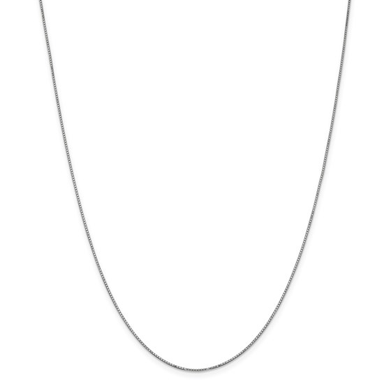 14k White Gold .90 mm Box Chain Necklace - 20 in.