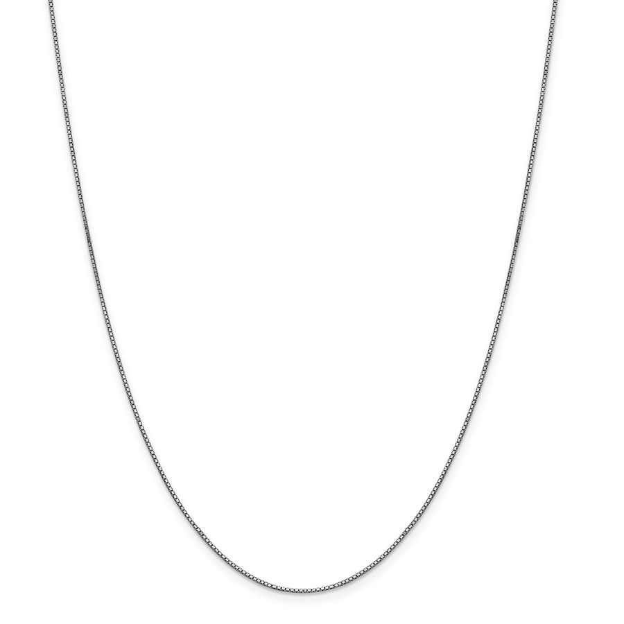 14k White Gold .90 mm Box Chain Necklace - 24 in.