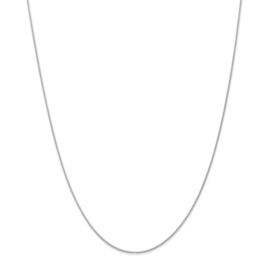 14k White Gold .90 mm Parisian Wheat Chain Necklace - 16 in.