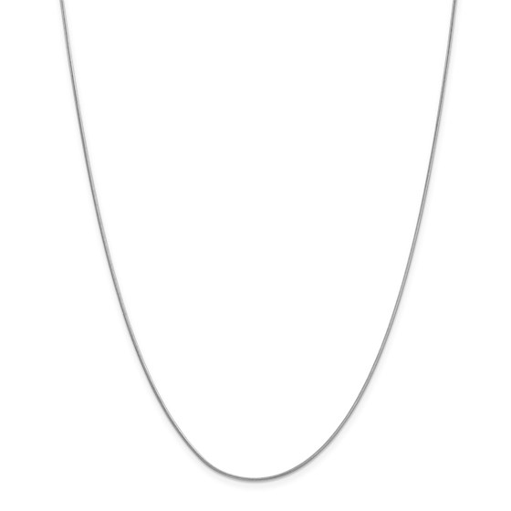 14k White Gold .90 mm Round Snake Chain Necklace - 18 in.