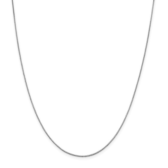 14k White Gold .95 mm Box Chain Necklace - 20 in.