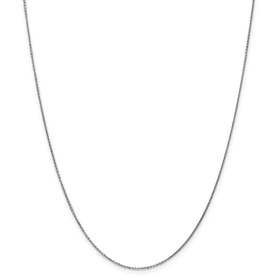 14k White Gold .95 mm Solid Cable Chain Necklace - 24 in.