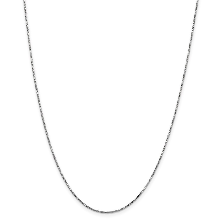 14k White Gold .95 mm Twisted Box Chain Necklace - 20 in.