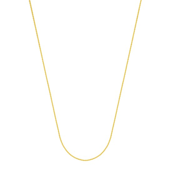 14K Yellow Gold 1.05mm Cable Chain with Lobster Clasp - 16 in.