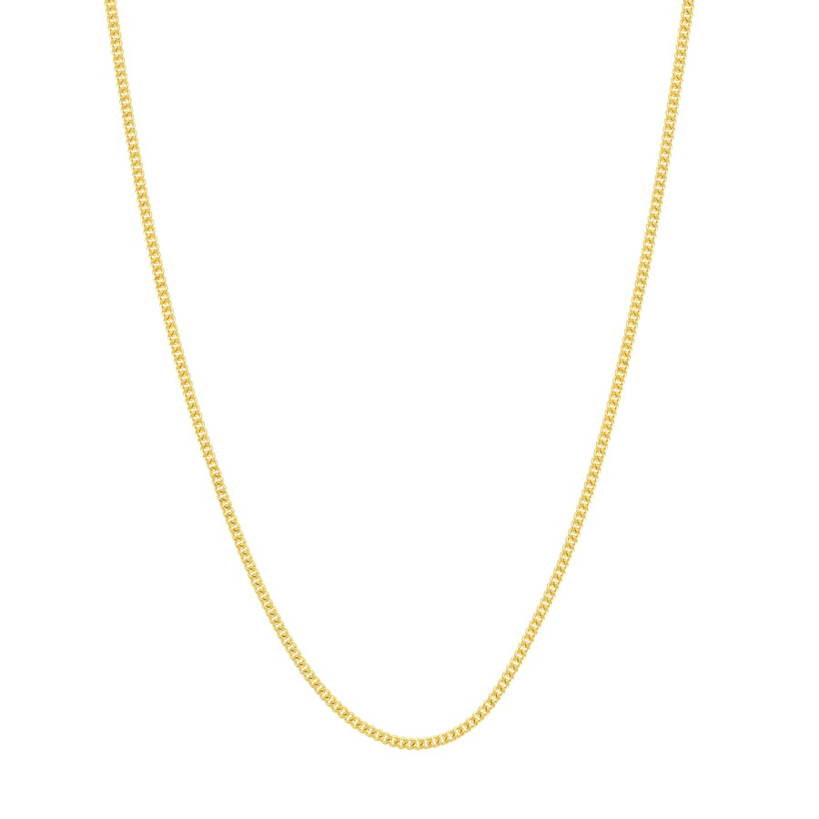 14K Yellow Gold 1.05mm Curb Chain with Lobster Clasp - 16 in.