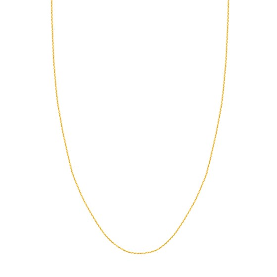 14K Yellow Gold 1.05mm D/C Cable Chain - 18 in.