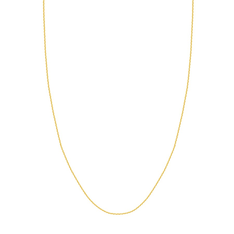 14K Yellow Gold 1.05mm D/C Cable Chain - 20 in.
