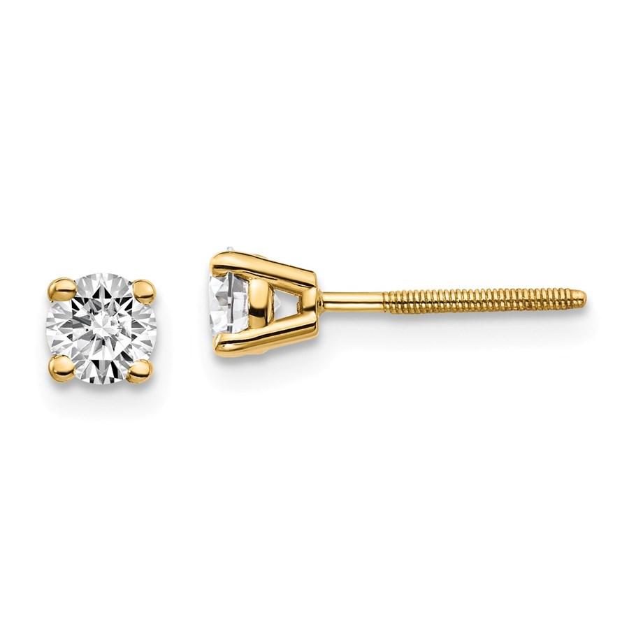 14k Yellow Gold 1/2ct Cert. Lab Grown Diamond Earring