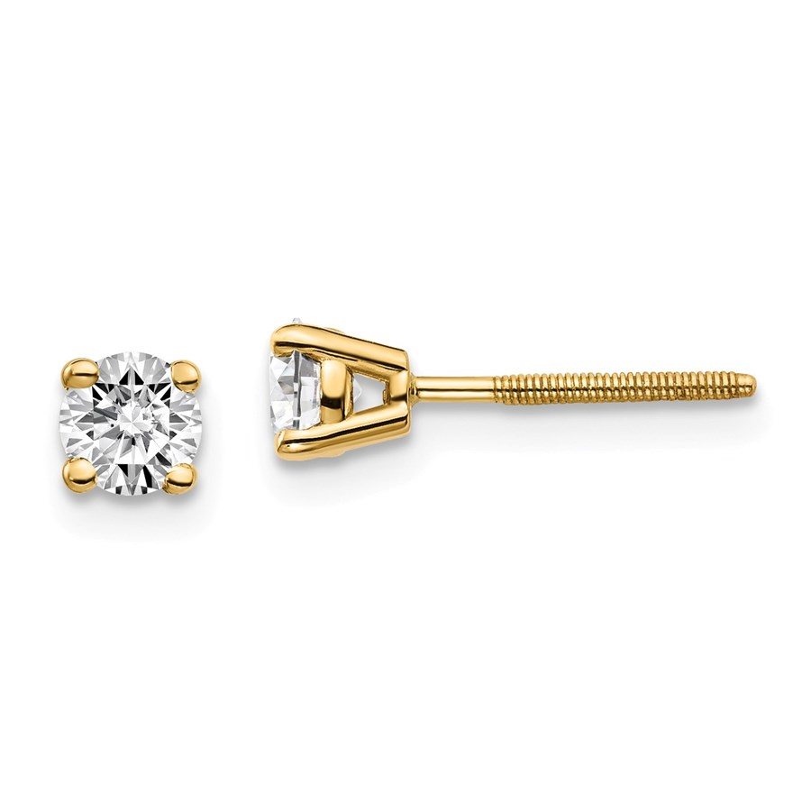 14k Yellow Gold 1/2ct Lab Grown Diamond Earring
