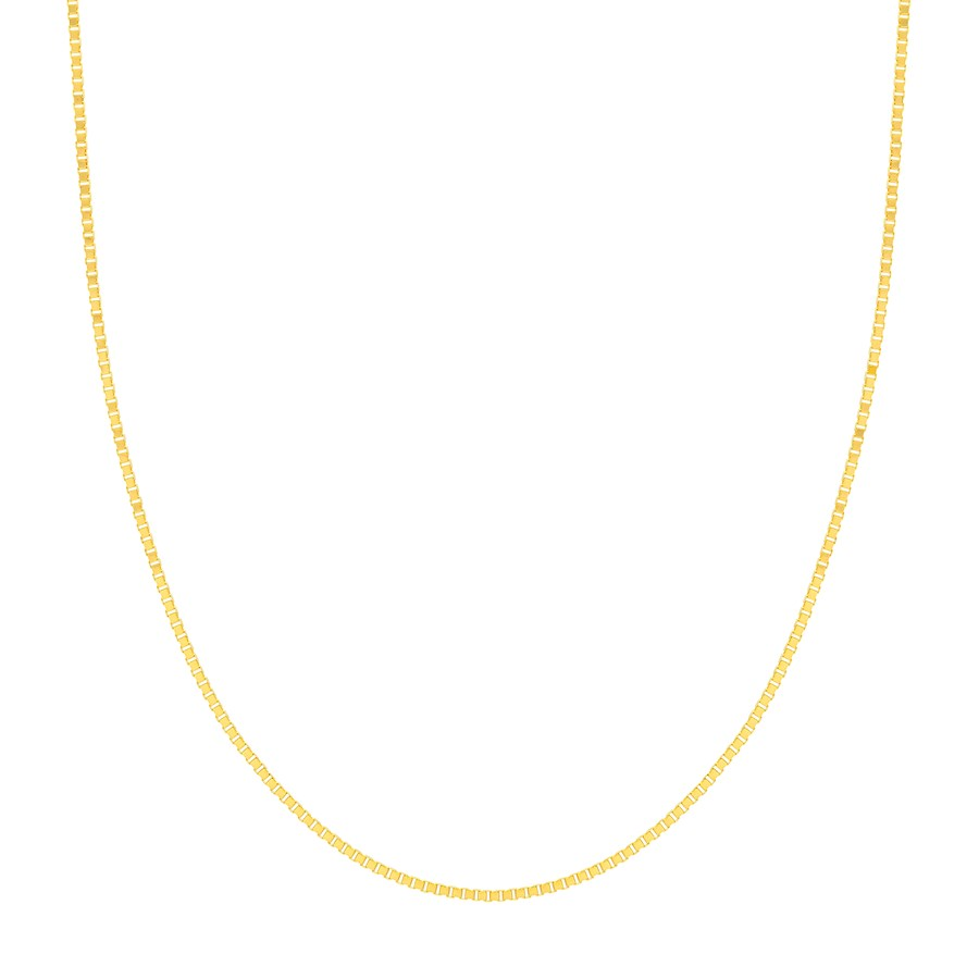 14K Yellow Gold 1.2mm Box Chain with Lobster Clasp - 18 in.