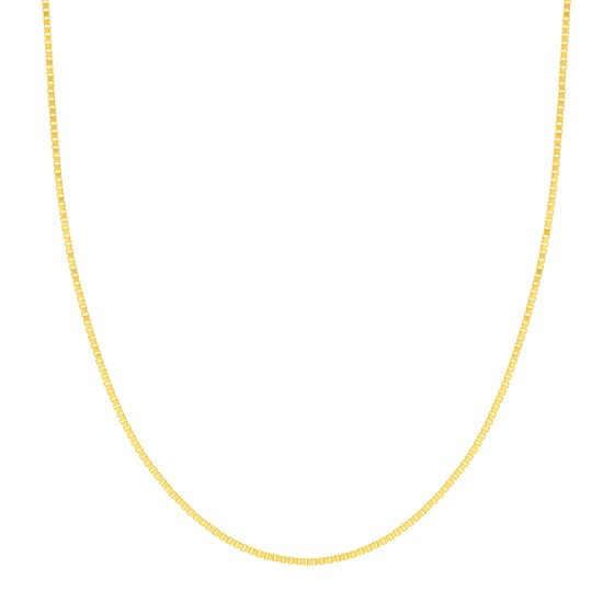 14K Yellow Gold 1.2mm Box Chain with Lobster Clasp - 24 in.
