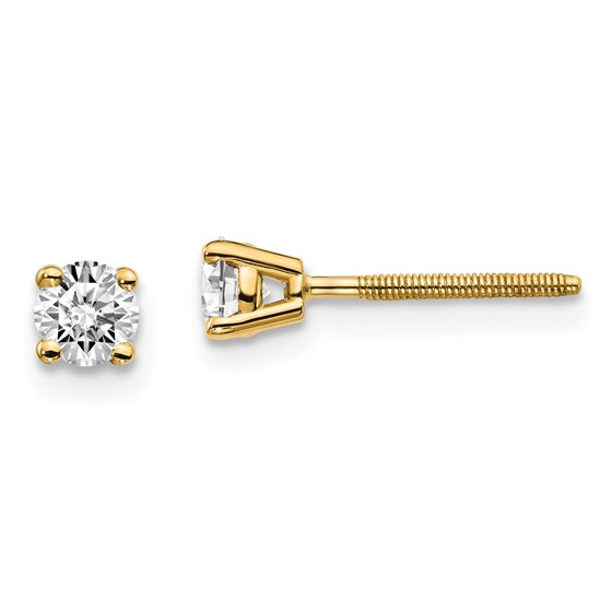 14k Yellow Gold 1/3ct Lab Grown Diamond Earring