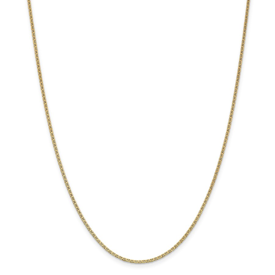14k Yellow Gold 1.5 mm Anchor Link Chain - 22 in.