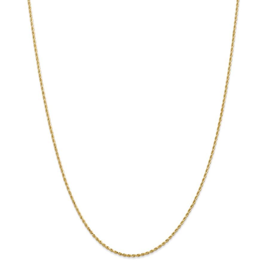 14k Yellow Gold 1.5 mm Diamond Cut Rope Chain - 36 in.
