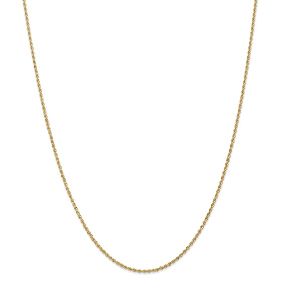 14k Yellow Gold 1.5 mm Regular Rope Chain - 26 in.